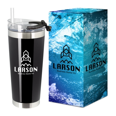 28 Oz. Stainless Steel Cobra Tumbler With Custom Box