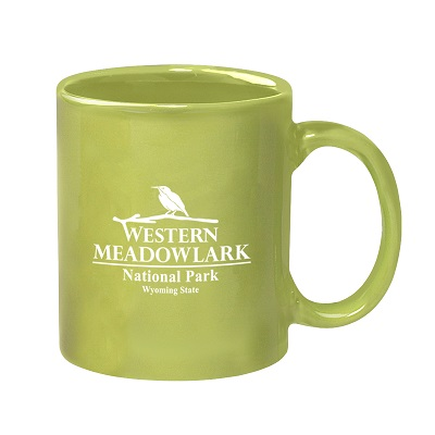11 Oz. Colored Stoneware Mug with C-Handle - Colors