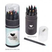 Blackwood 12-Piece Colored Pencil Set in Tube with Sharpener